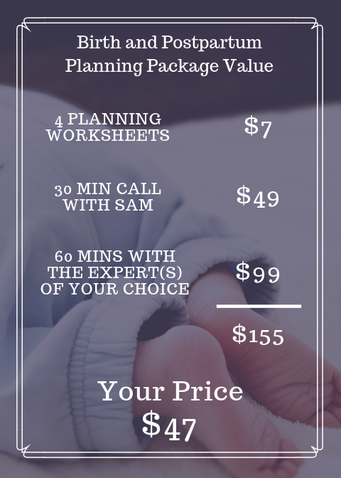 Birth and Postpartum Planning Package value from A Mom Around Town
